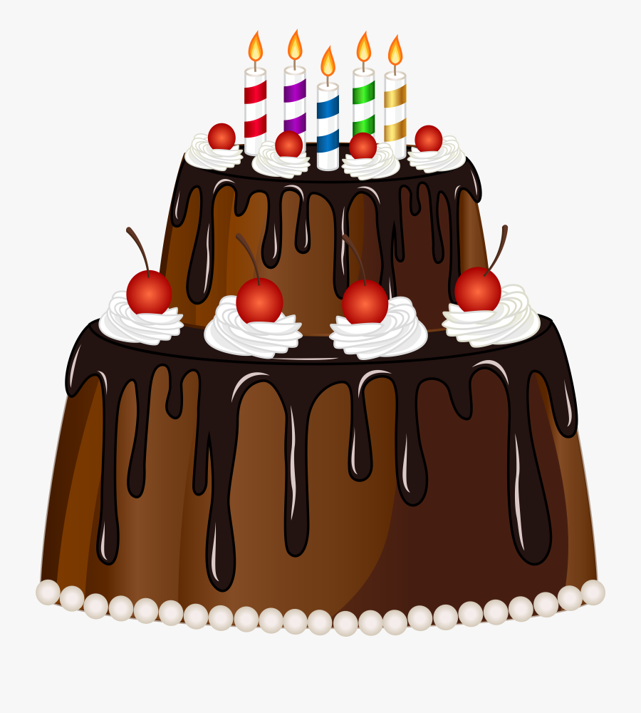 Png Transparent Stock Birthday Cake With Candles Clipart, Transparent Clipart