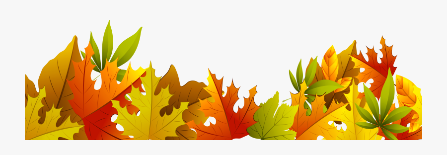 Transparent Autumn Clip Art - Fall Leaves Clipart Border, Transparent Clipart