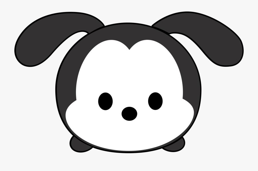 Transparent Tsum Tsum Clipart - Tsum Tsum Black White, Transparent Clipart