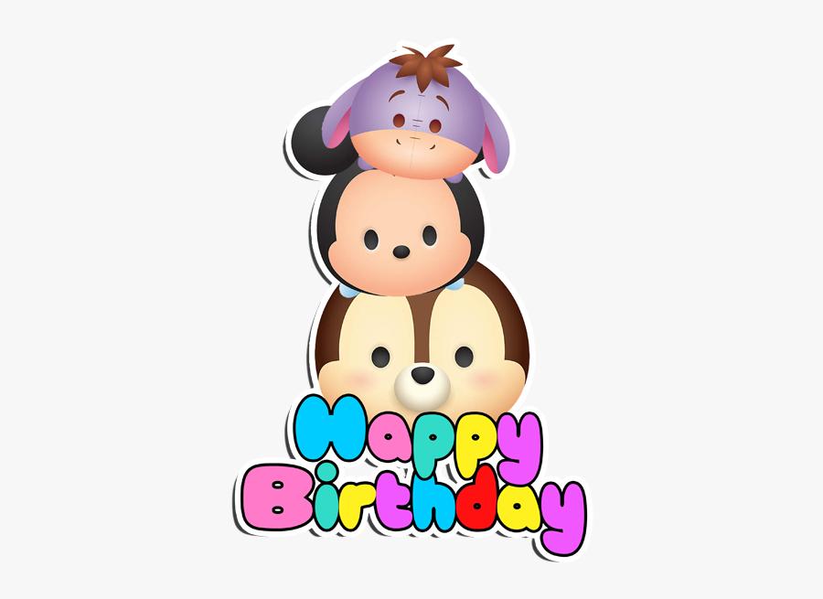 Happy Birthday Tsum Tsum, Transparent Clipart