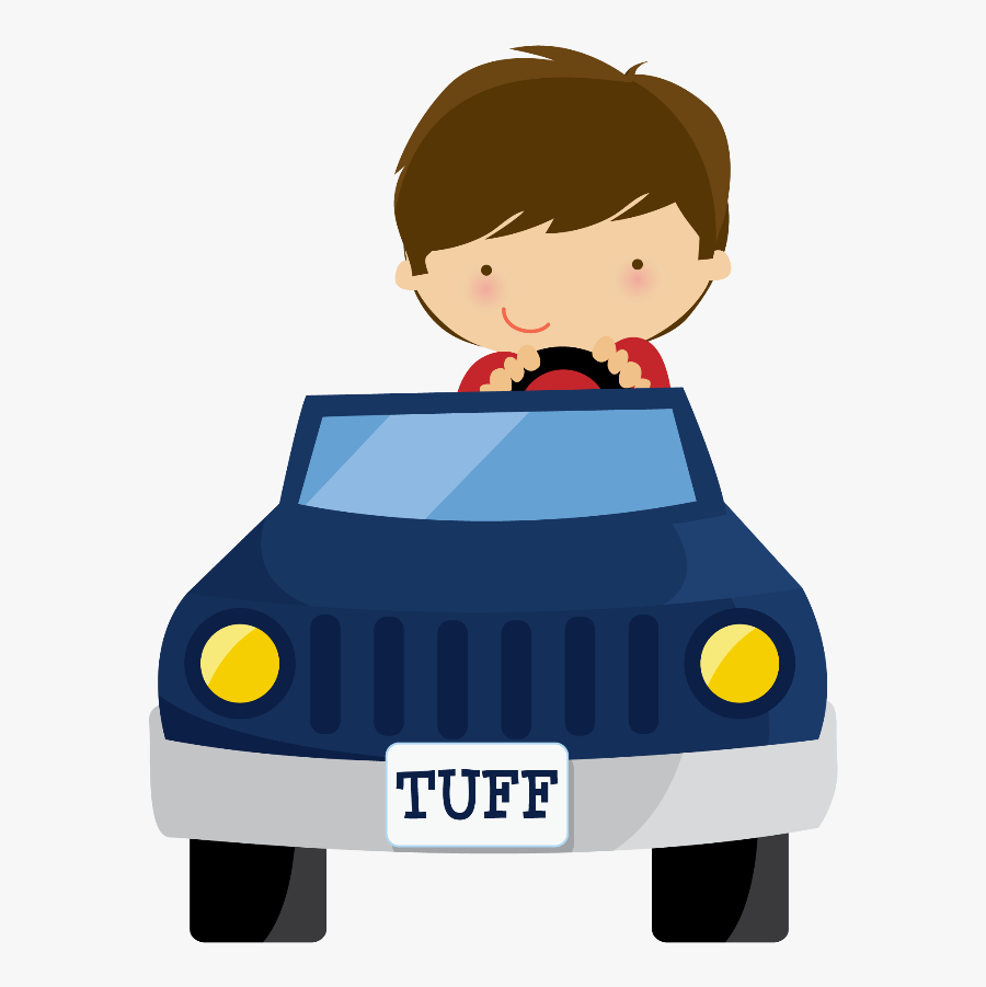 Say Hello - Little Boy In Car Png, Transparent Clipart
