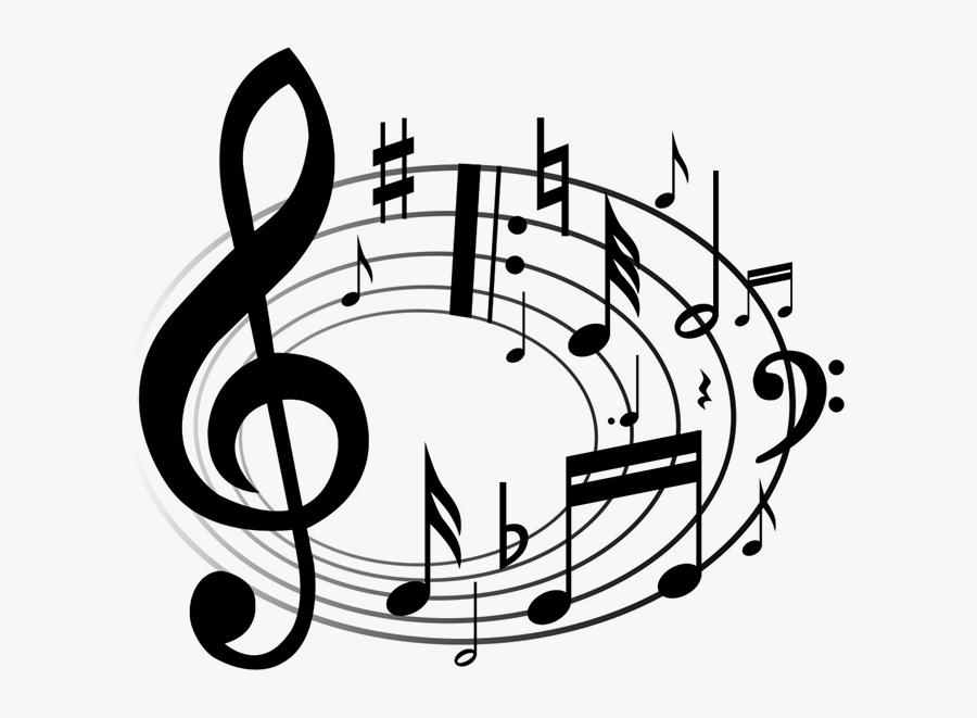 Transparent Choir Clipart Black And White - Music Notes Clip Art, Transparent Clipart