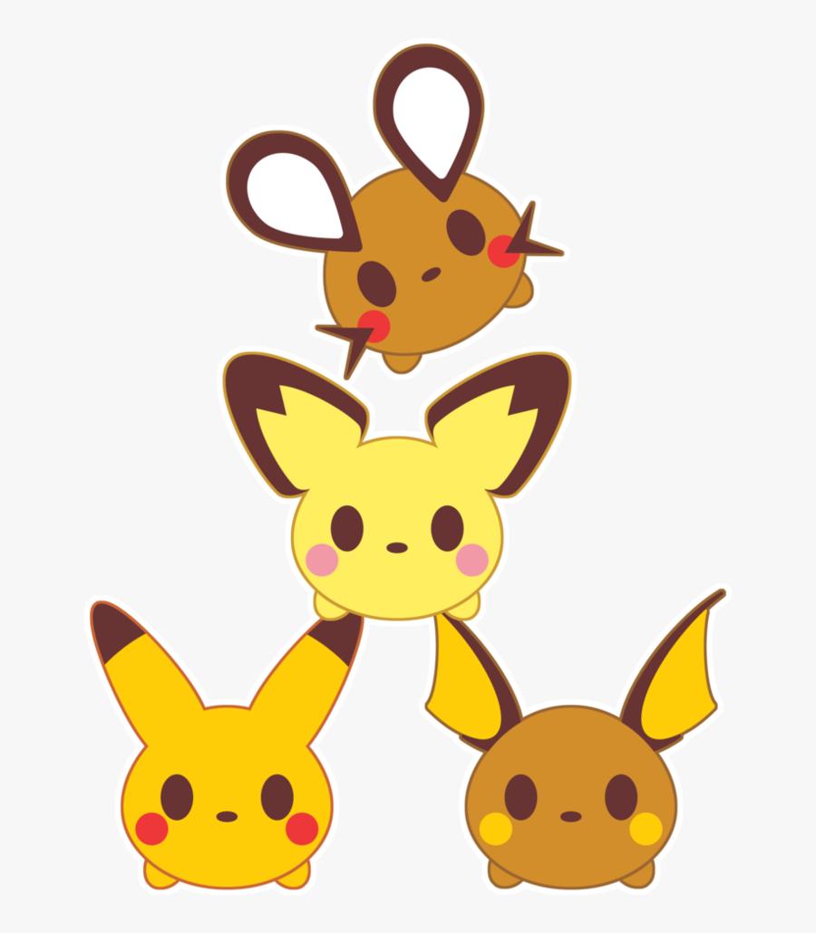 Tsum Tsum X Pika Family By Itachi Roxas - Disney Tsum Tsum Pokemon, Transparent Clipart