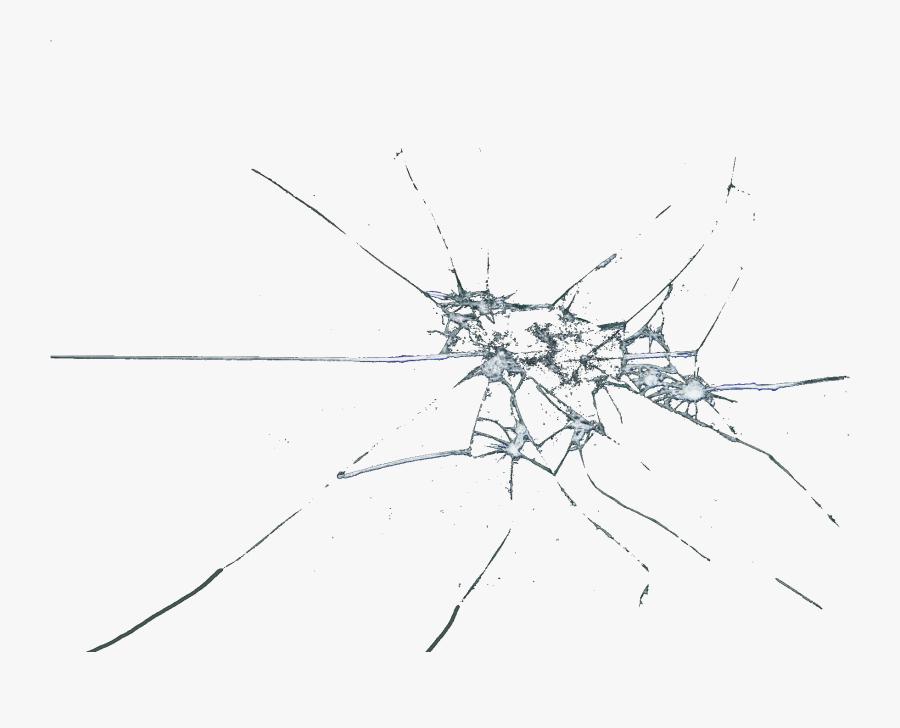 Broken Cracked Window Pane X High Res - Transparent Background Glass Crack Png, Transparent Clipart