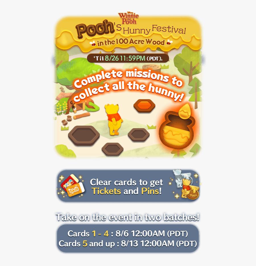 Poohs Hunny Festival Disney, Tsum, Tsum, August, Pooh, - Winnie The Pooh, Transparent Clipart