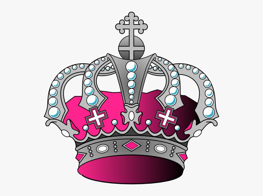 Transparent Princess Crown Clipart Black And White - Silver And Pink Crown, Transparent Clipart