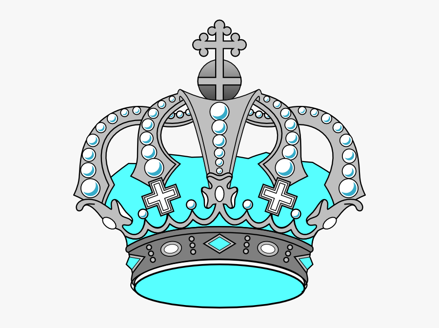 Silver And Pink Crown, Transparent Clipart