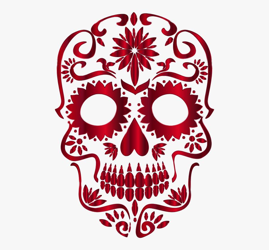 Visual Arts,flower,art - Sugar Skull Clipart Png, Transparent Clipart