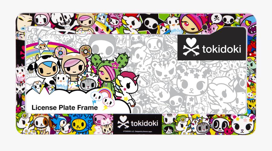 Tokidoki License Plate Frame, Transparent Clipart