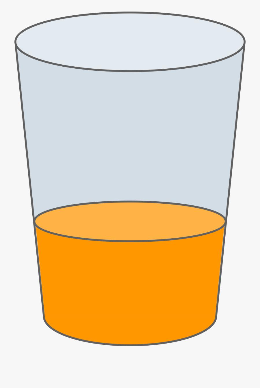 Oranje Juice Glass Svg - Little Juice In Glass, Transparent Clipart