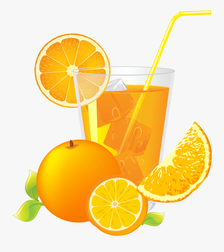 Clip Art Orange Juice Cartoon - Orange Juice Cartoon, Transparent Clipart