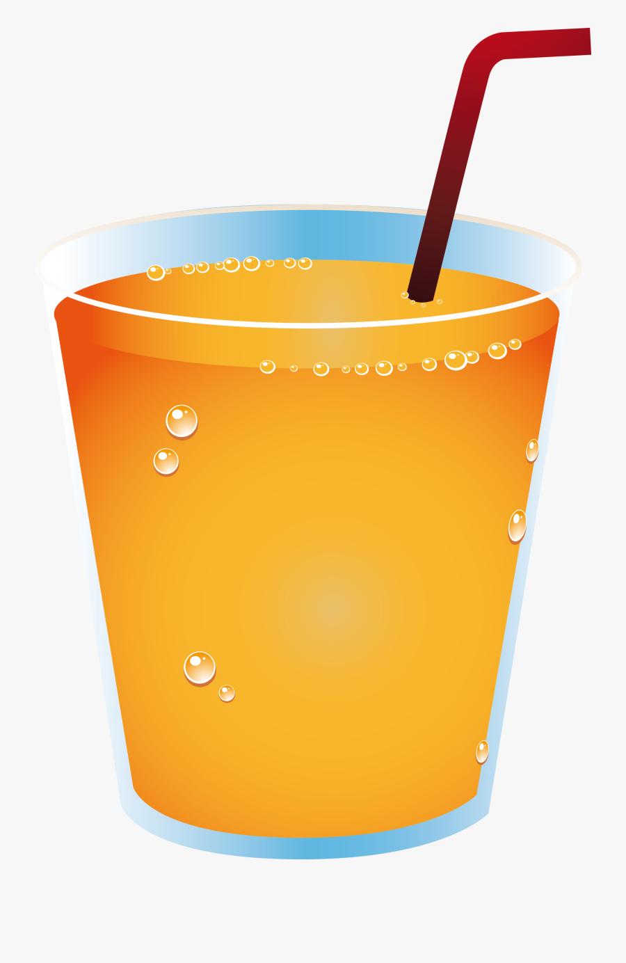 Juice Drink Soft Cup - Orange Juice Drink Cups, Transparent Clipart