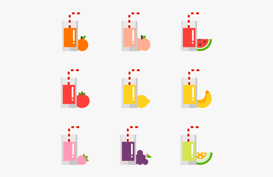 Fruit And Vegetable Juice Collection - Fruit Juice Photo Design Png, Transparent Clipart