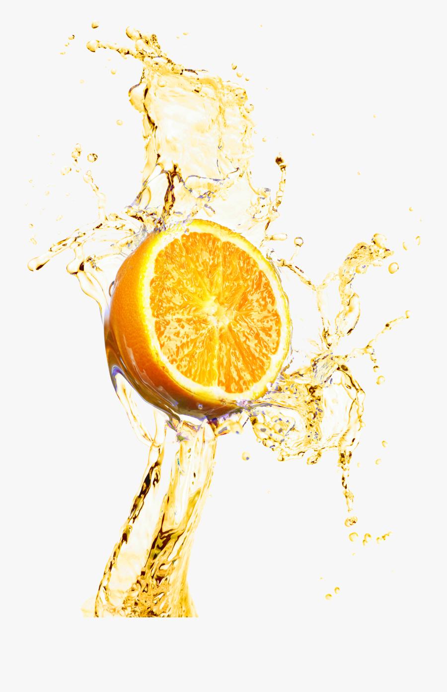 Material Lemonade Decoration Juice Splash Design Orange - Lemonade Splash Png, Transparent Clipart