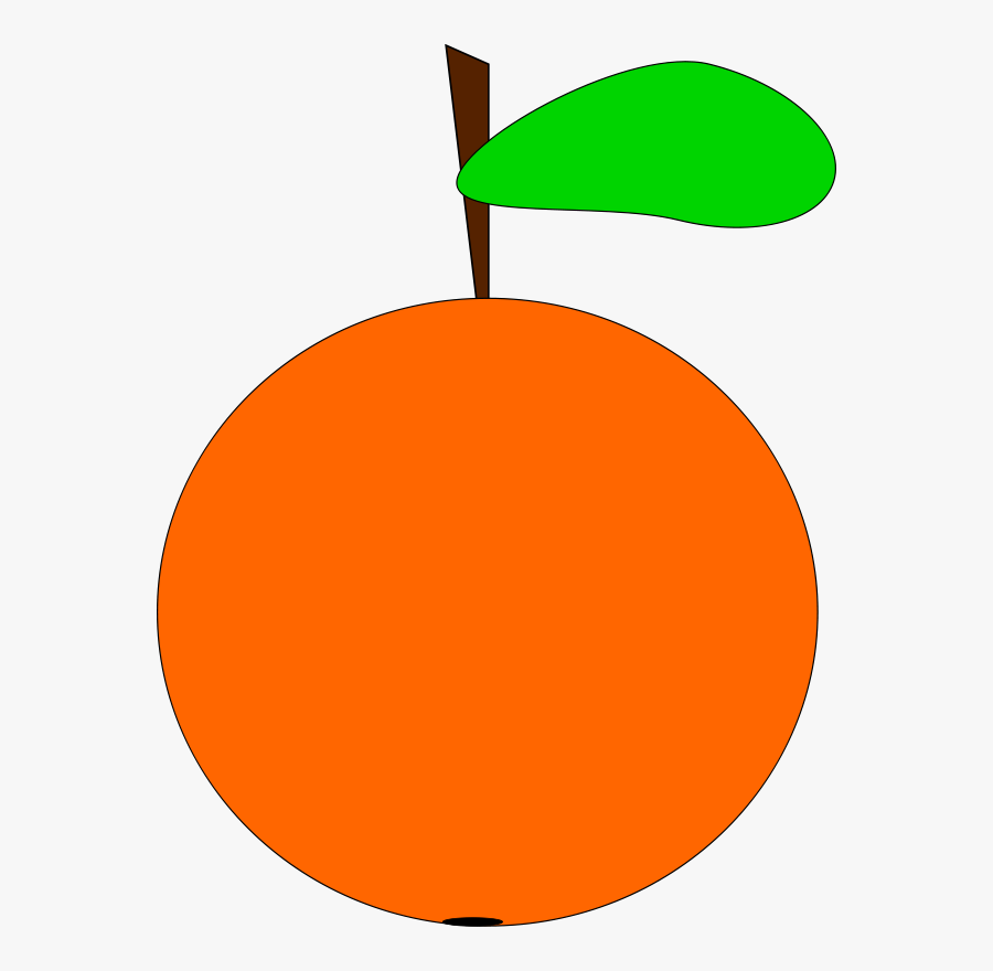 Leaf,food,circle - Cartoon Orange Fruit Clipart, Transparent Clipart