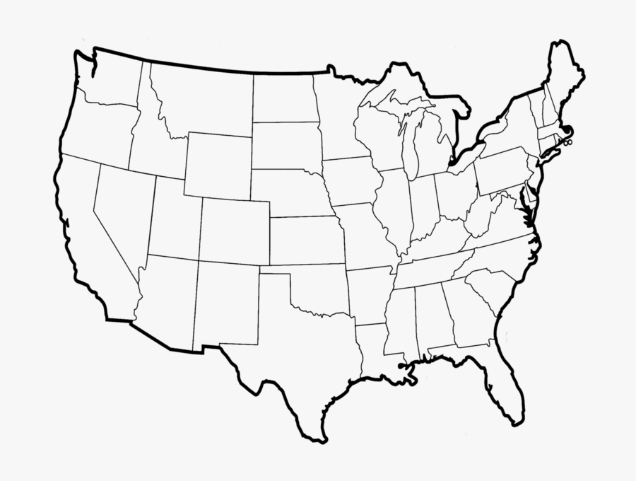 Map Psd Official Psds - Us Map Without Names, Transparent Clipart