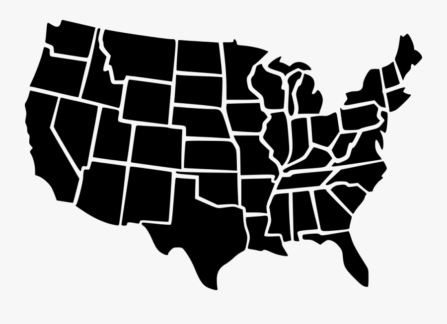 Usa Map Png Free, Transparent Clipart