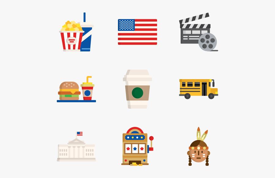 Usa Icons, Transparent Clipart