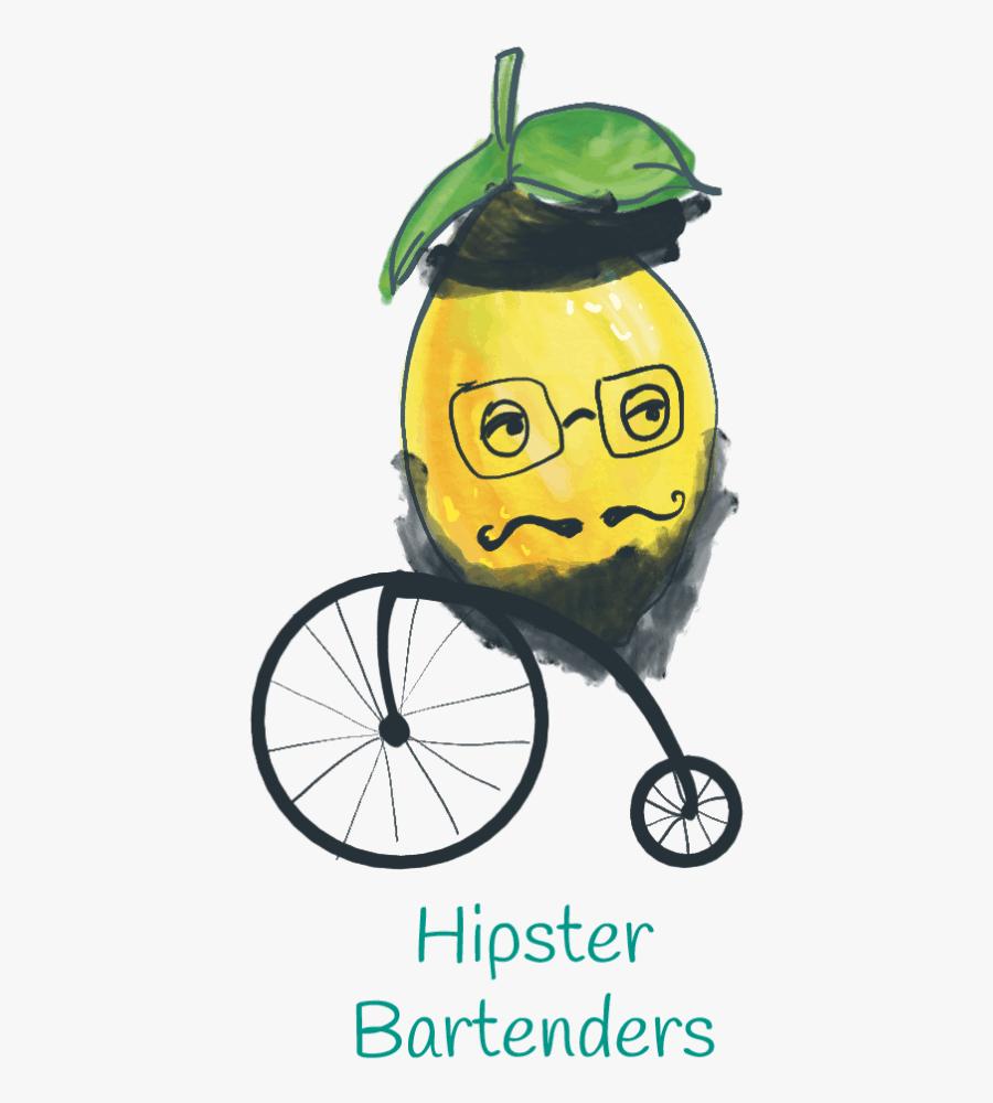 Hipster Bartender Lemon Illustration - Illustration, Transparent Clipart
