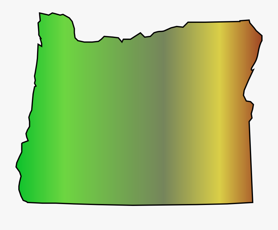 Map Oregon State Free Picture - State Of Oregon Graphic, Transparent Clipart