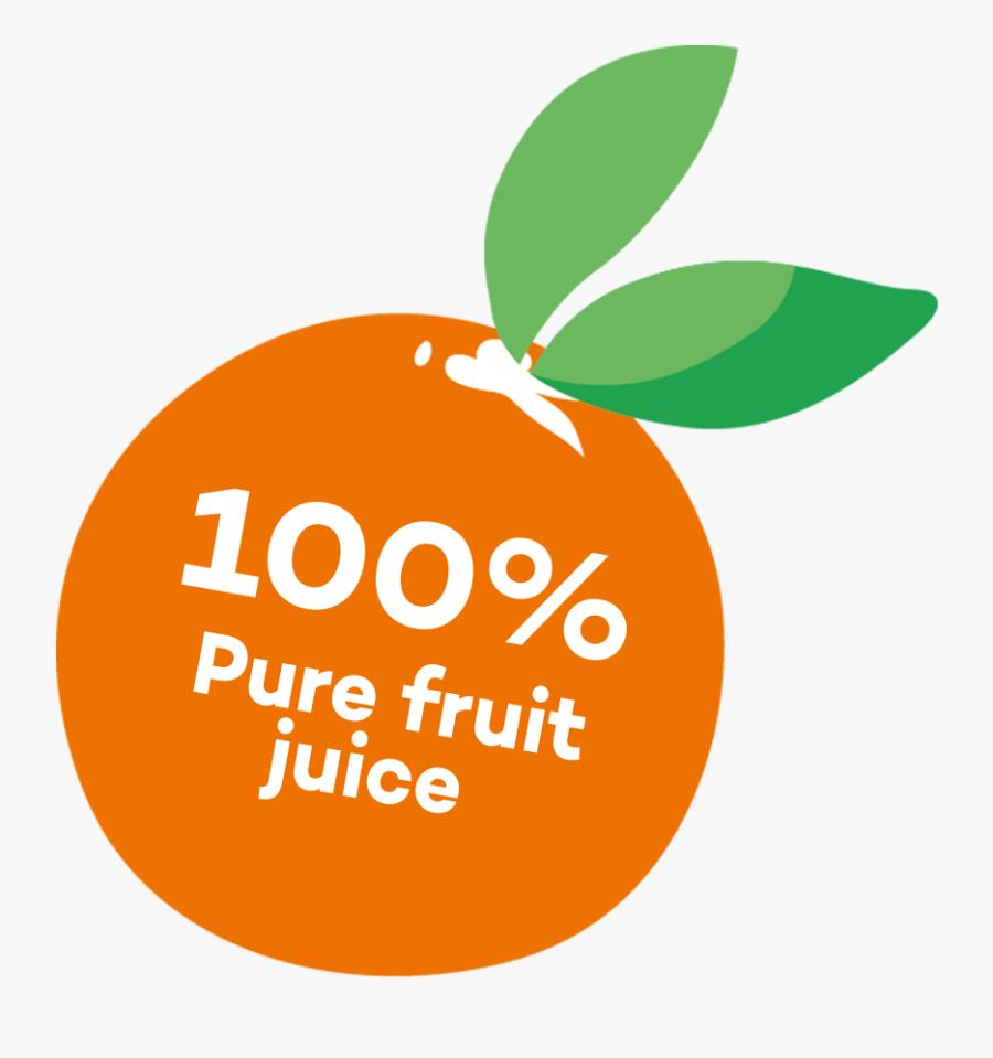 100% Pure Fruit Juice - Illustration, Transparent Clipart