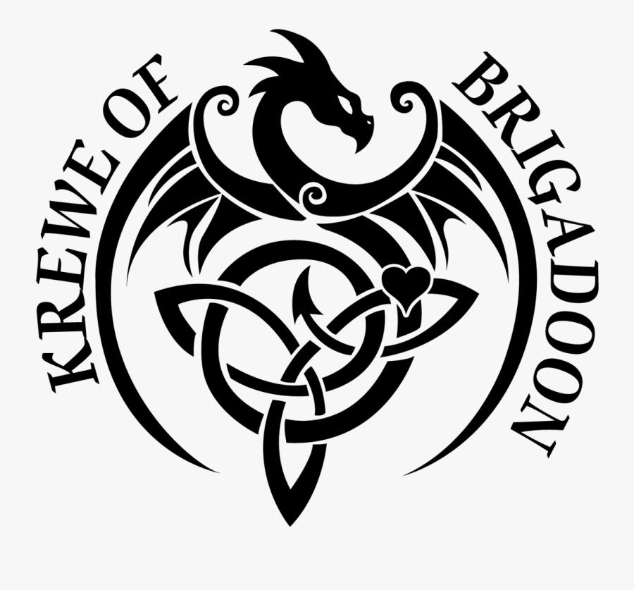 Tribal Celtic Dragon Tattoo, Transparent Clipart