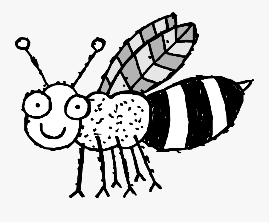Cute Bee Coloring Pages - Cut And Paste Parts Of An Insect, Transparent Clipart