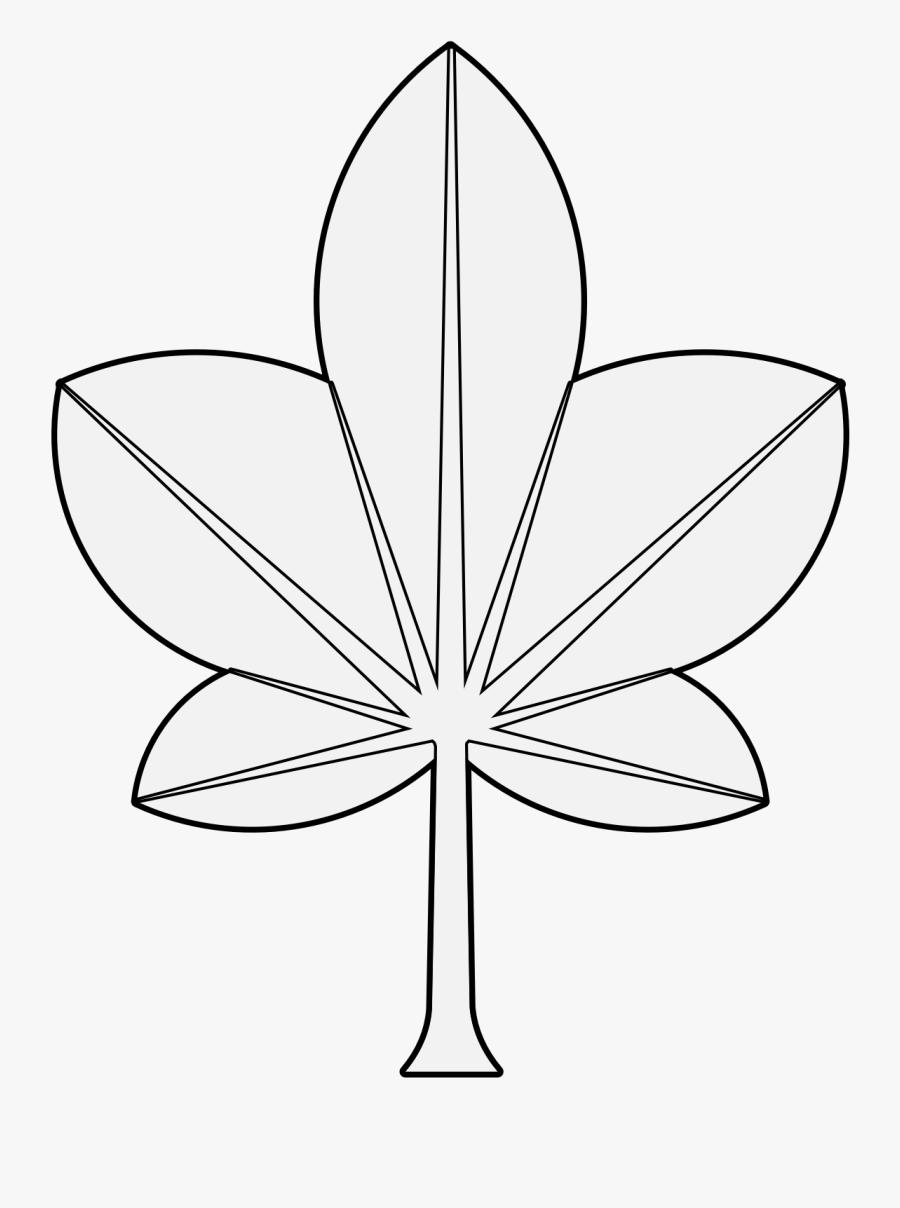 Leaf,black And White,monochrome Art,style - Flower, Transparent Clipart