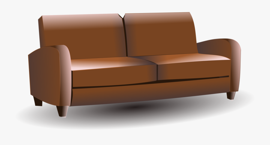 Sofa - Brown Couch Clipart, Transparent Clipart
