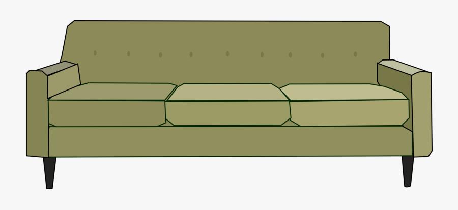 Green Sofa Medium 600pixel Clipart, Vector Clip Art - Couch Clip Art, Transparent Clipart