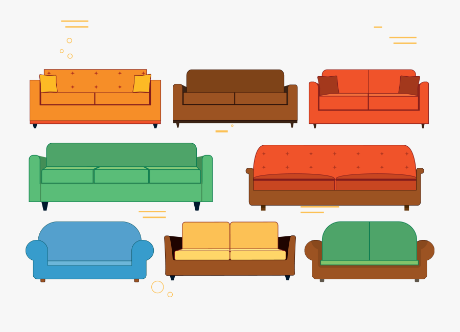 Couch Software Euclidean Vector Clipart , Png Download - Couch, Transparent Clipart