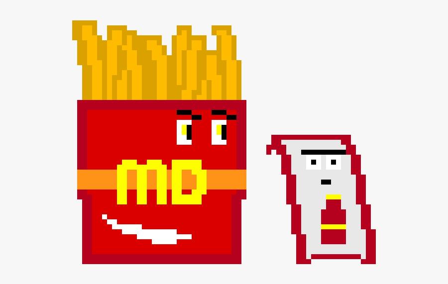 Mcdonalds Fries Pixel Free Transparent Clipart Clipartkey