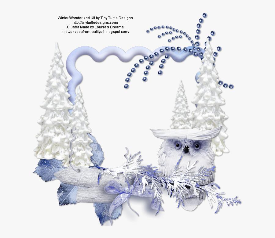 Winter Wonderland Picture Frame - Winter Wonderland Frame Png, Transparent Clipart