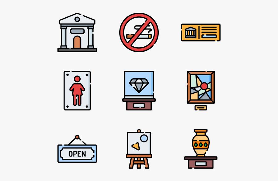 Museum - Furniture Icons Top View Png, Transparent Clipart