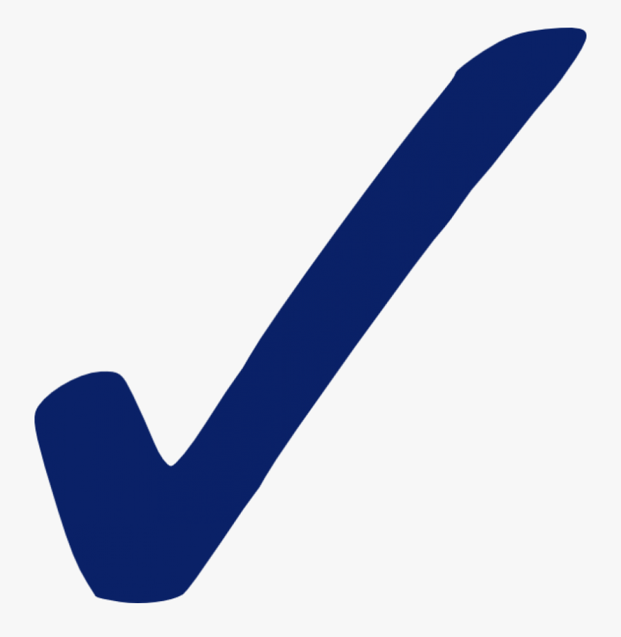Check Mark Symbol Blue, Transparent Clipart
