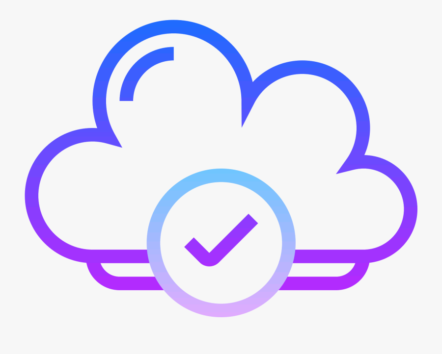 Cloud Checked Icon - Cloud Computing, Transparent Clipart