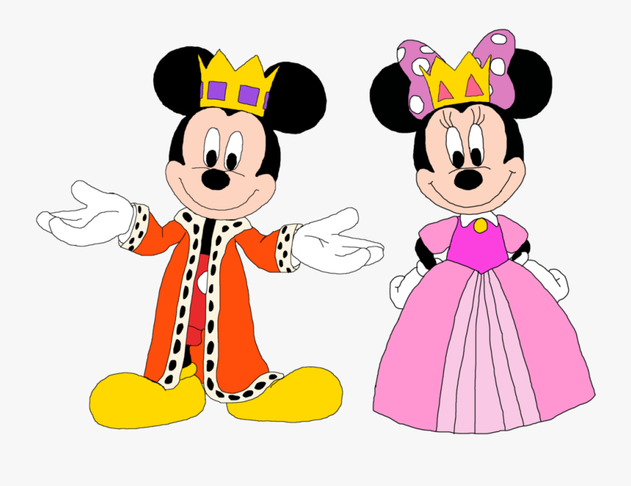 Crown Clipart Minnie - Prince Mickey And Princess Minnie, Transparent Clipart