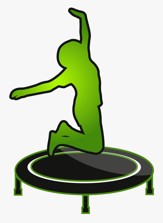 Trampoline Jump, Transparent Clipart