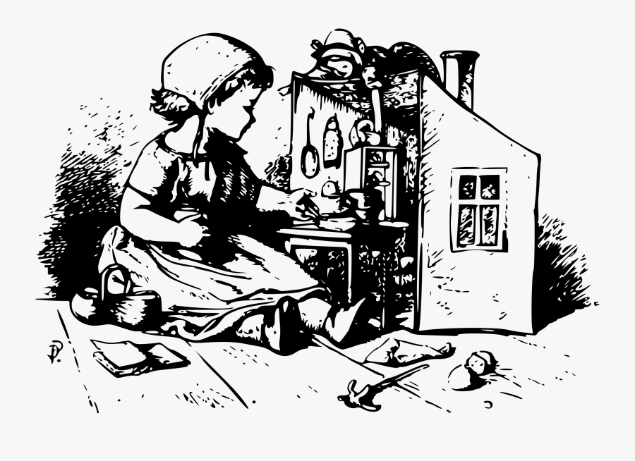 Human Behavior,recreation,art - Dollhouse Clipart Black And White Victorian, Transparent Clipart