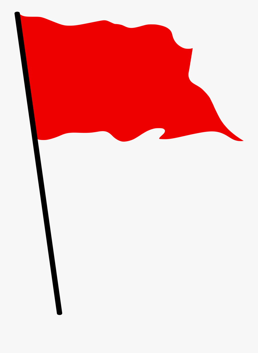 Flag Clipart Finish Line - Red Waving Flag Png, Transparent Clipart
