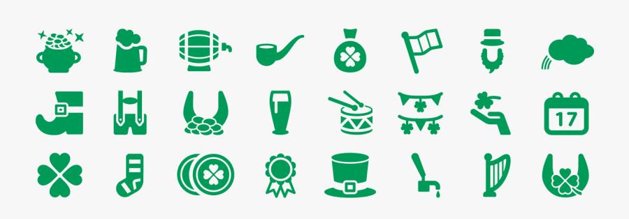 Saint Patrick Icons Copie - St Patrick's Day Icons Png, Transparent Clipart