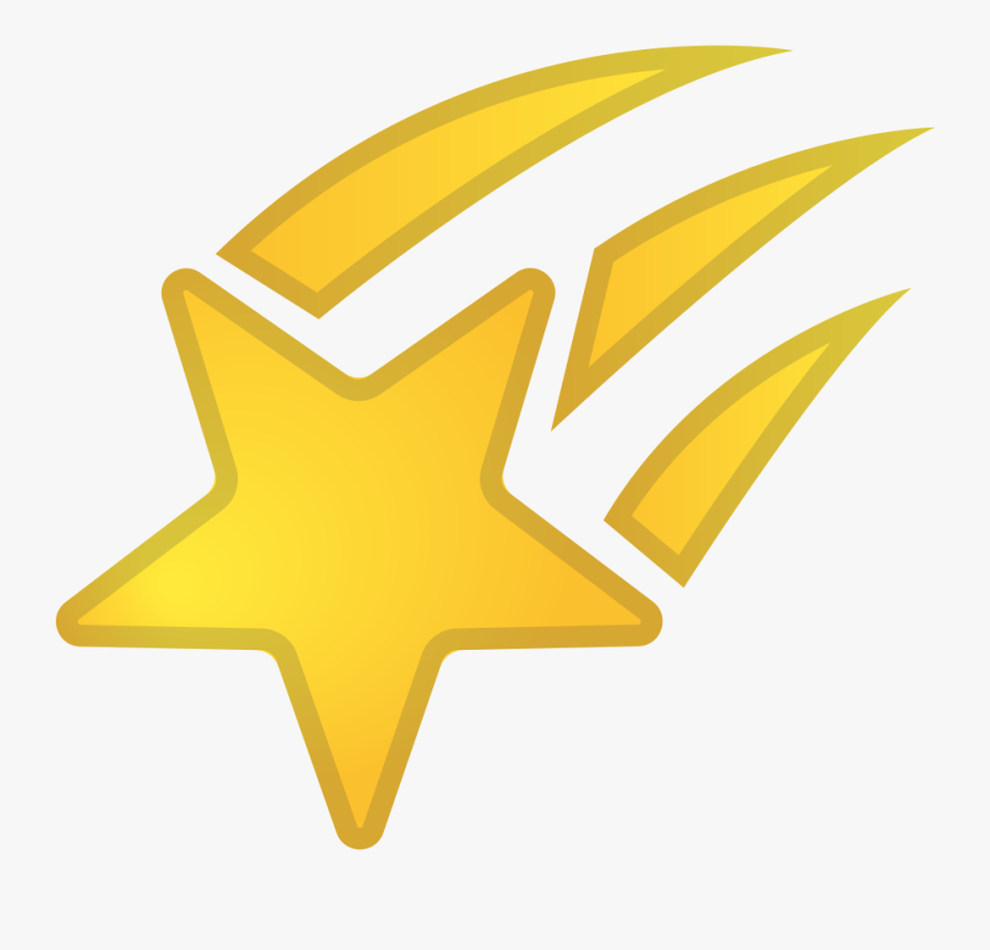 Shooting Star Icon - Shooting Star Emoji, Transparent Clipart