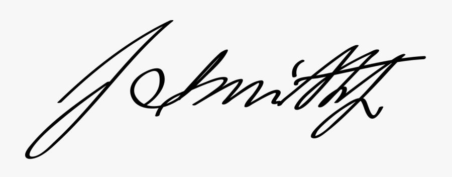 Aa Js Sig Main - Sample Signature John Smith, Transparent Clipart