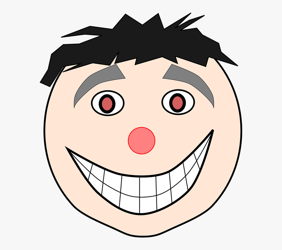 Happy, Face, Laughing, Person, Head, Portrait, Emotions - Smile Face Teeth Clipart, Transparent Clipart