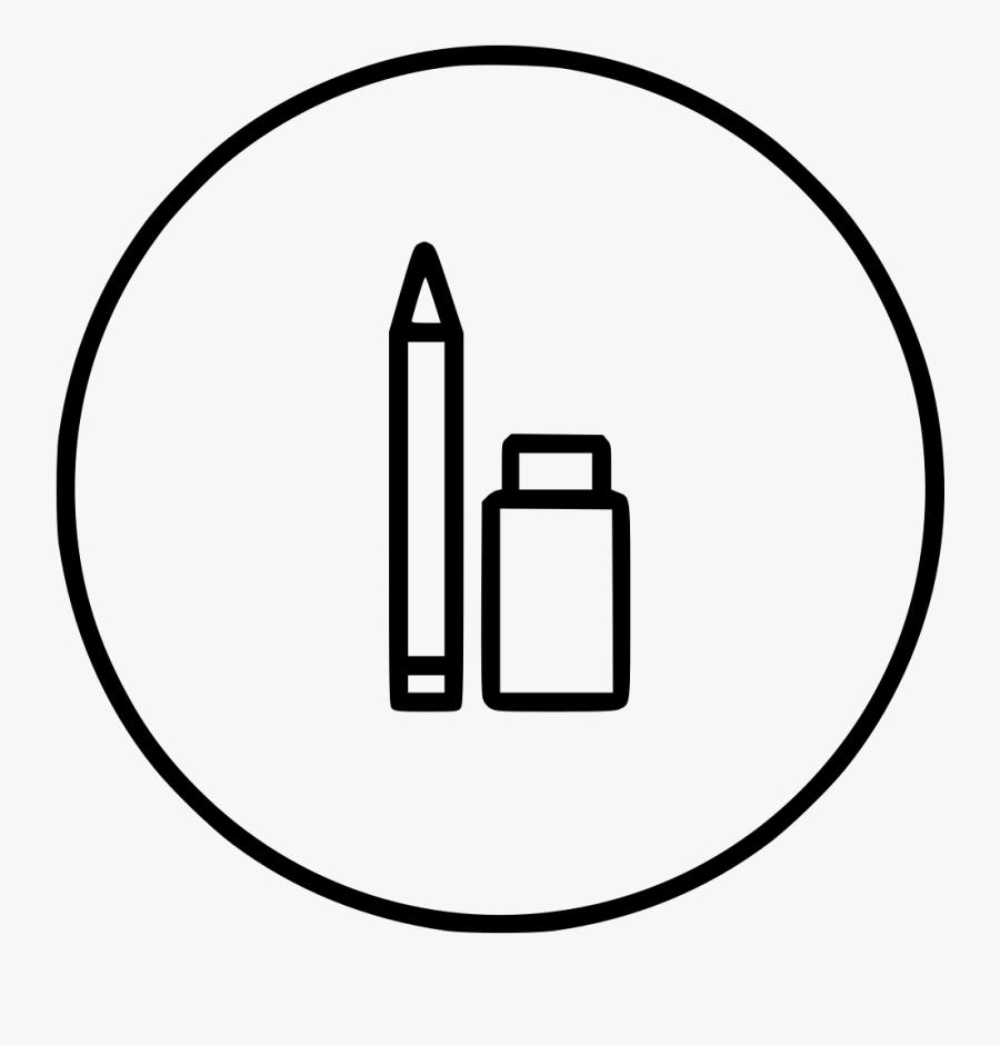 Pen Pencile Tool Eraser Erase Sketch Tool Drawing - Line Art, Transparent Clipart