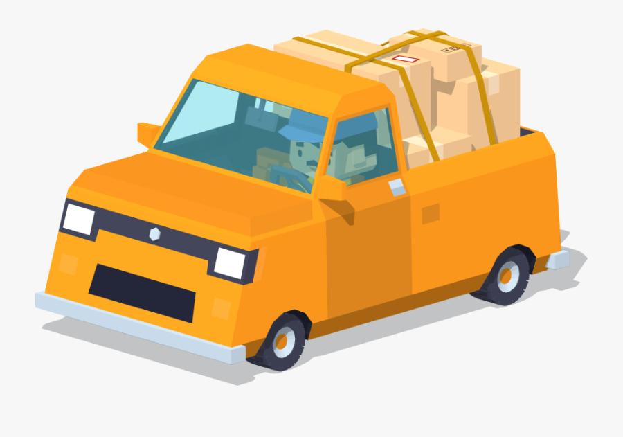 Clip Art Truck Illustration Yellow Small - Cartoon Small Truck Png, Transparent Clipart