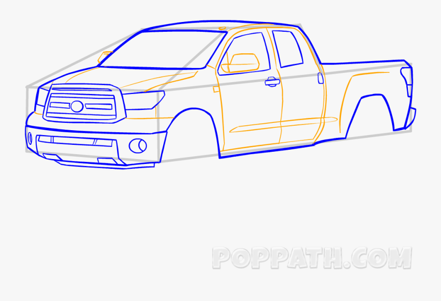 Clip Art How To Draw A - Pickup Truck, Transparent Clipart