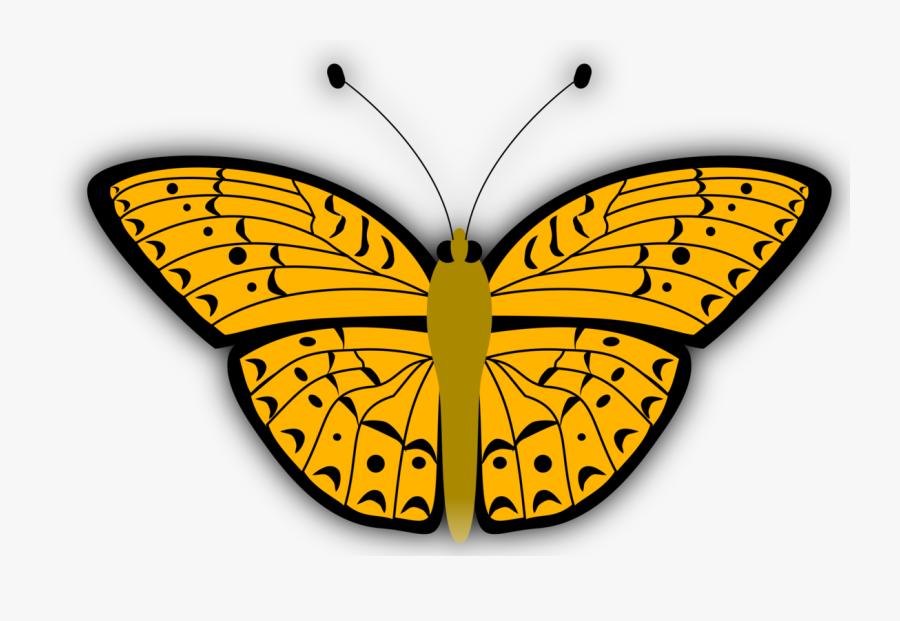 Gambar Kupu Kupu Warna Kuning, Transparent Clipart