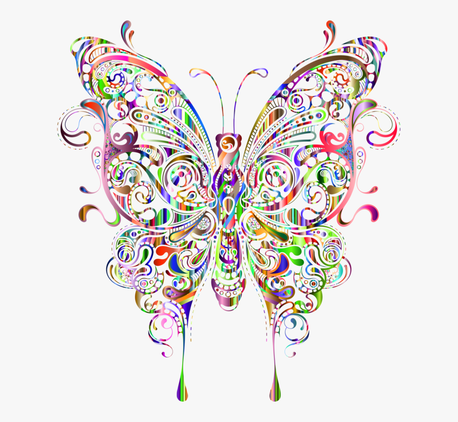 Art,symmetry,graphic Design - Butterfly Abstract, Transparent Clipart