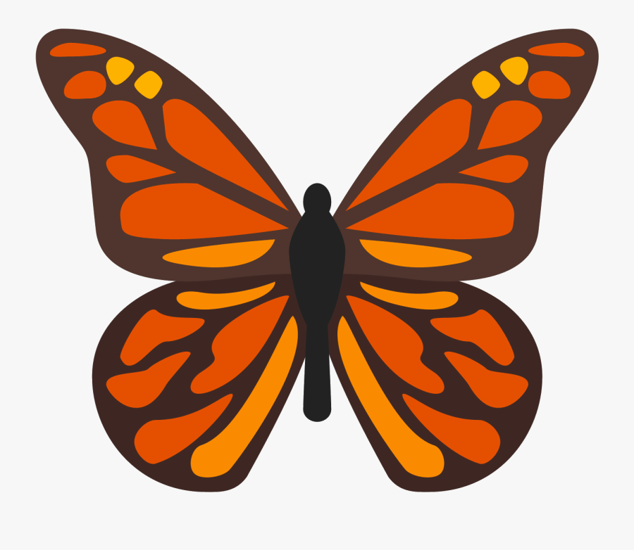 Butterfly Icon Free Download Clipart , Png Download - Monarch Butterfly Png, Transparent Clipart
